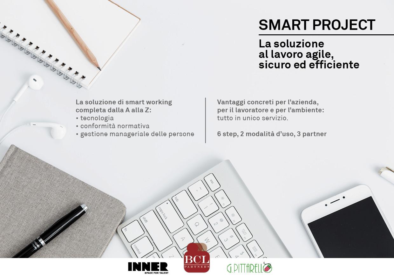 Smart Project è il servizio completo di smart working dedicato alle aziende